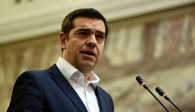 Ο Πρωθυπουργός και πρόεδρος του ΣΥΡΙΖΑ στην συνεδρίαση της κοινοβουλευτικής ομάδας,σήμερα Δευτέρα 12 Φεβρουαρίου 2018 (eurokinissi/ΤΑΤΙΑΝΑ ΜΠΟΛΑΡΗ)
