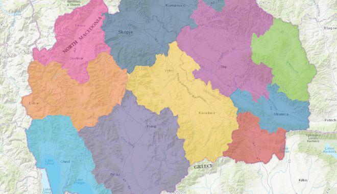 """Σύμφωνα με τον """"Μακεδονικό Τουρισικό Οδηγό"""" Βόρεια Μακεδονία είναι μόνο η περιοχή του Τετόβου."""