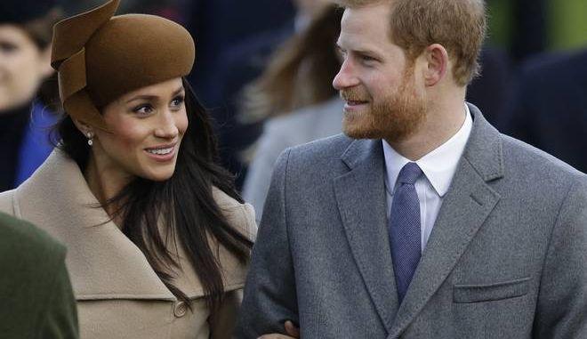 Ο πρίγκιπας Χάρι της Βρετανίας με την αρραβωνιαστικιά του Μέγκαν Μαρκλ