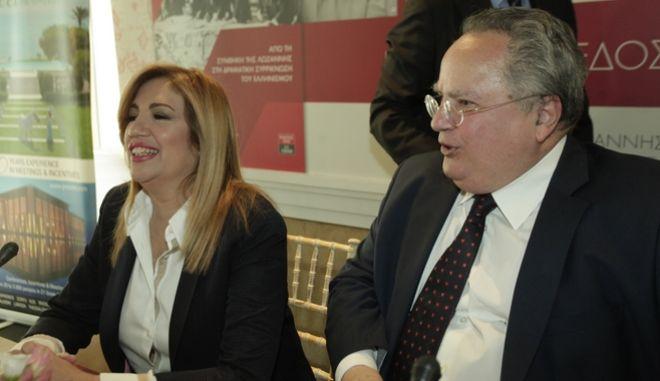 H επικεφαλής του Κινήματος Αλλαγής και ο υπουργός Εξωτερικών