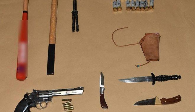 Το οπλοστάσιο των συλληφθέντων