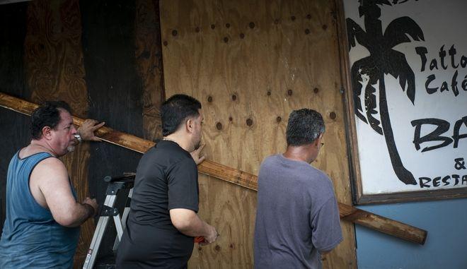 Εικόνα από το Πουέρτο Ρίκο λίγο πριν την έλευση του τυφώνα Ντόριαν