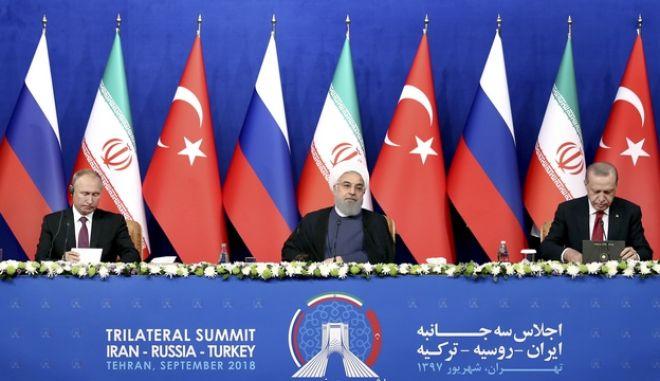 Χωρίς συμφωνία για το Ιντλίμπ ολοκληρώθηκε η σύνοδος Ρωσίας - Τουρκίας - Ιράν