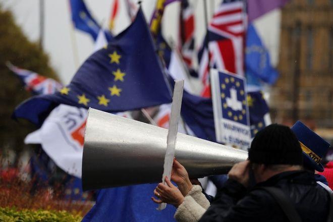 Διαδηλωτές κατά του Brexit