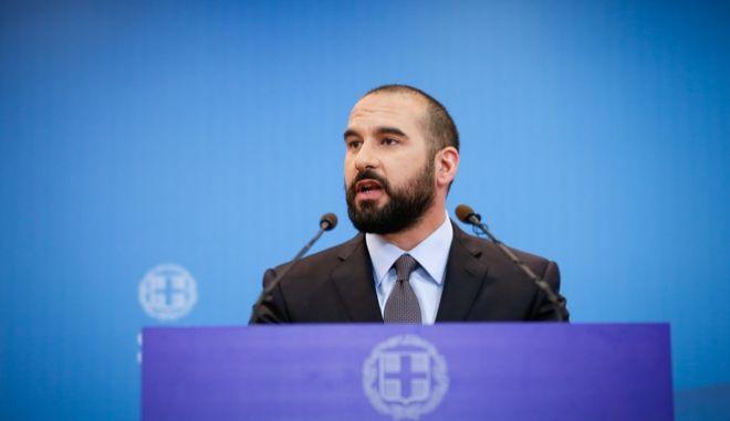 Ο κυβερνητικός εκπρόσωπος Δημήτρης Τζανακόπουλος,