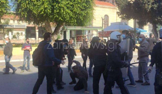 Άγρια καταστολή στο κέντρο των Χανίων στην επέτειο της δολοφονίας Γρηγορόπουλου