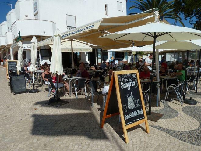 The Disapearance of Madeleine McCann in Praia Da Luz Portugal- GV of Havana bar in Praia da Luz