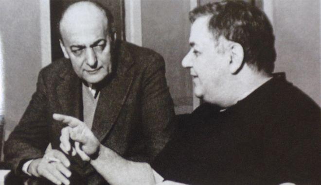 Ο Μάνος Χατζιδάκις και ο Νίκος Γκάτσος