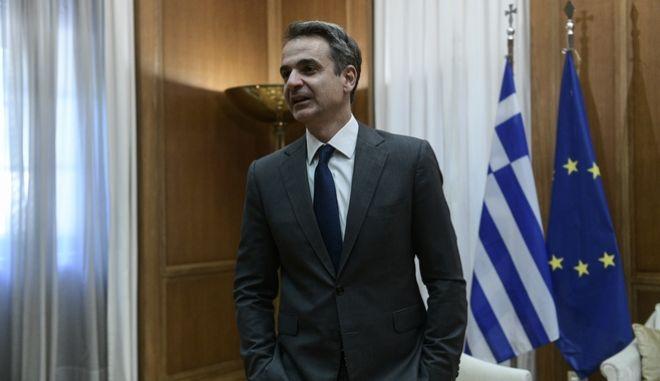 Συνάντηση του Πρωθυπουργού Κυριάκου Μητσοτάκη με τους αρχηγούς των κομμάτων