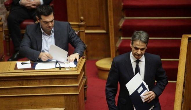 Τσίπρας: Σας κρατάει ο Αυγενάκης- Μητσοτάκης: Δεν πήρα κανένα δώρο από τη Siemens