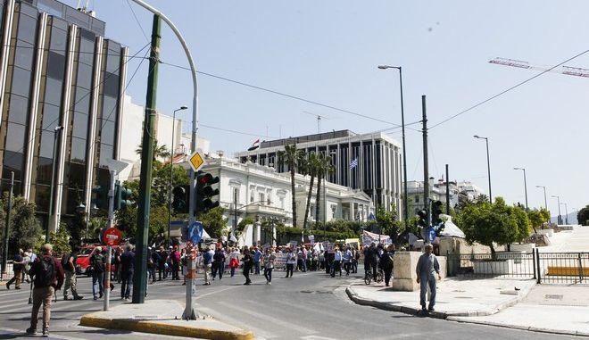 Συγκέντρωση και πορεία στο κέντρο της Αθήνας τον Απρίλιο του 2018