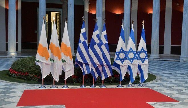 Τελετή υπογραφής διακρατικής συμφωνίας για τον αγωγό EAST MED μεταξύ Ελλάδας Κύπρου και Κύπρου.