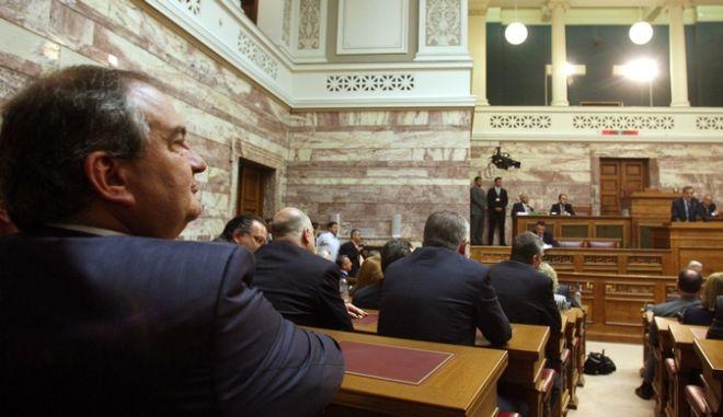 ΑΘΗΝΑ-11-5-2012-Συνεδρίαση της κοινοβουλευτικής ομάδας της ΝΔ. Στιγμιότυπο.(EUROKINISSI-ΜΠΟΛΑΡΗ ΤΑΤΙΑΝΑ).
