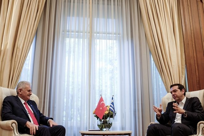 Meeting between the Prime Minister of Greece, Alexis Tsipras, and his Turkish counterpart Benali Yildirim, in Athens, on June 19, 2017 /           Benali Yildirim,   19, 2017