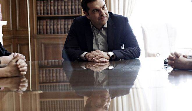 Meeting between the Prime Minister of Greece, Alexis Tsipras and the delefation of Greek Green ecologist political party, in Athens, on July 19, 2016 /           ,  ,  19 , 2016