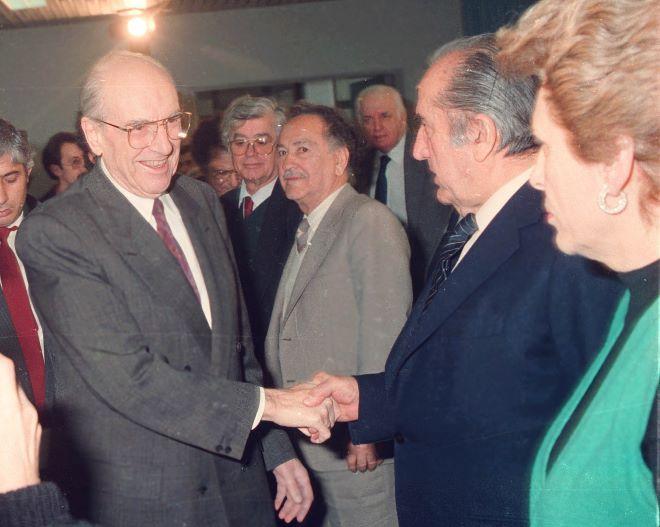 Ο Ανδρέας Παπανδρέου στο Συνέδριο του ΠΑΣΟΚ το 1990
