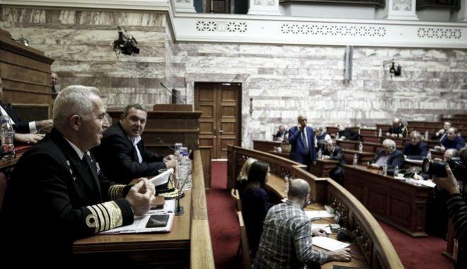 Ενημέρωση από τον Υπουργό Εθνικής Άμυνας, Παναγιώτη Καμμένο, για θέματα αρμοδιότητάς του της Επιτροπής Εξοπλιστικών Προγραμμάτων και Συμβάσεων της Βουλής την Παρασκευή 8 Δεκεμβρίου 2017. (EUROKINISSI/ΓΙΩΡΓΟΣ ΚΟΝΤΑΡΙΝΗΣ)