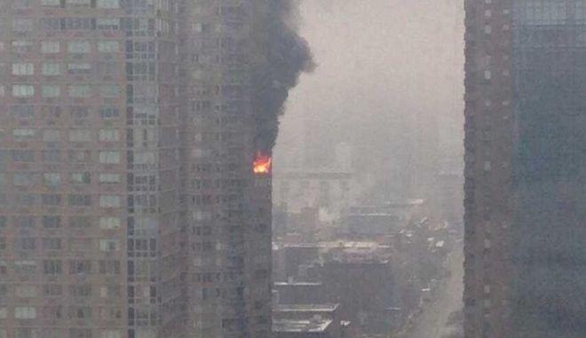 Μανχάταν: Πυρκαγιά σε ουρανοξύστη