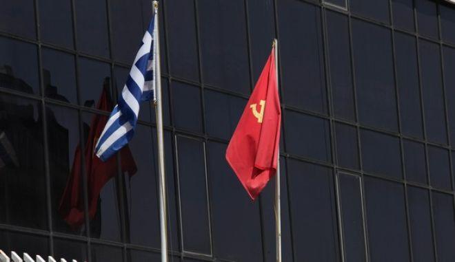 Το κτίριο του ΚΚΕ στον Περισσό.