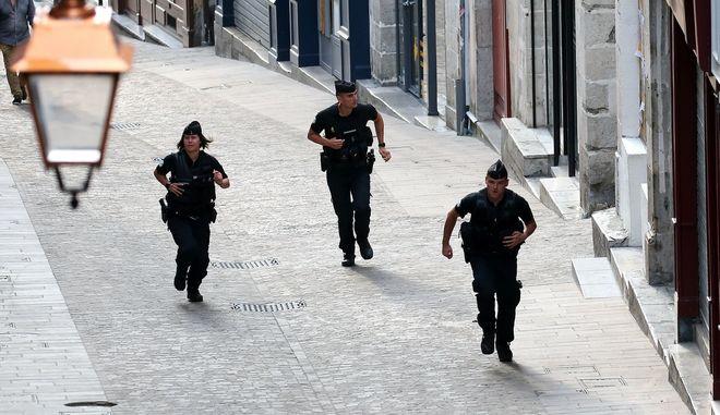 Δυνάμεις της αστυνομίας της Γαλλίας - Φωτό αρχείου