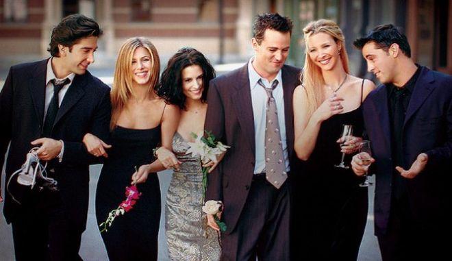 Σκηνή από την σειρά, Φιλαράκια, που έκανε φινάλε στις 6 Μαΐου του 2004