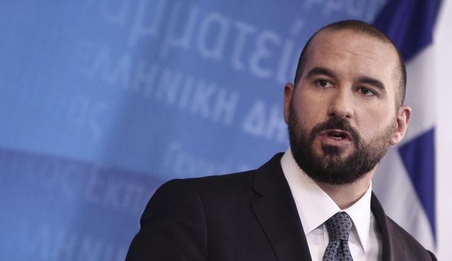 Ο υπουργός Επικρατείας και κυβερνητικός εκπρόσωπος, Δημήτρης Τζανακόπουλος.