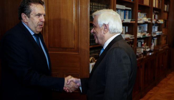 Συνάντηση του Προέδρου της Δημοκρατίας Προκόπη Παυλόπουλου με το προεδρείο της Συνομοσπονδίας εμπορίου και επιχειρηματικότητας