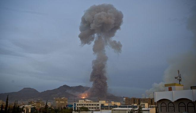 Αεροπορικές επιδρομές στην Υεμένη. Φωτό αρχείου.