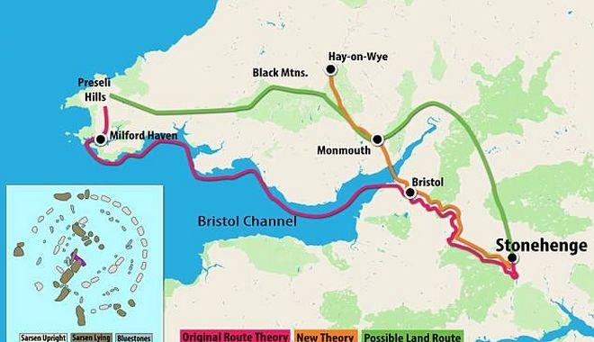 Η διαδρομή που φέρεται να ακολούθησαν στην αρχαιότητα για τη μεταφορά των τεράστιων ογκολίθων