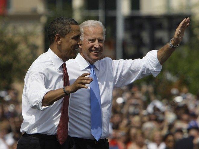 Ο Τζο Μπάιντεν με τον Μπάρακ Ομπάμα τον Αύγουστο του 2008 ως υποψήφιοι αντιπρόεδρος και πρόεδρος αντίστοιχα