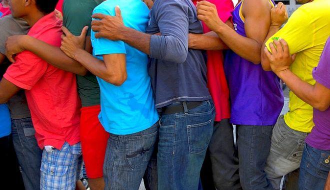 Mετανάστες από το καραβάνι στο Μεξικό