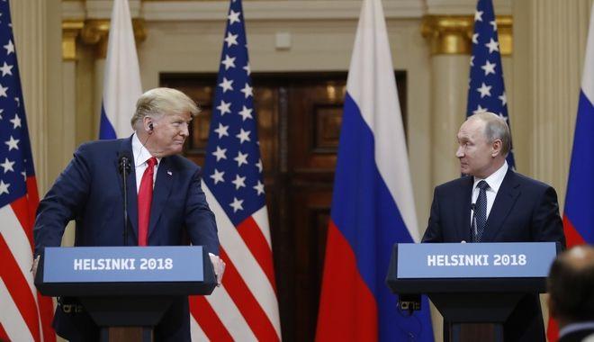 Πούτιν και Τραμπ κατά τη συνέντευξη Τύπου