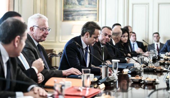 Συνεδρίαση του Υπουργικού Συμβουλίου, την πέμπτη 28 Νοεμβρίου 2019, στο Μέγαρο Μαξίμου.