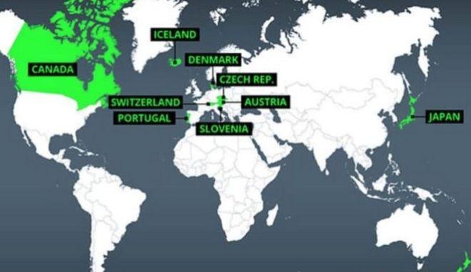 Αυτές είναι οι πιο ασφαλείς χώρες στον κόσμο αν ξεσπάσει ο Γ' Παγκόσμιος Πόλεμος