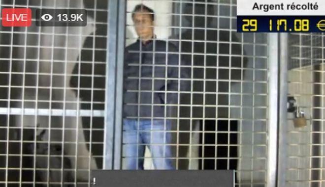 LIVE Βίντεο: O Rémi Gaillard κλείστηκε στο κλουβί
