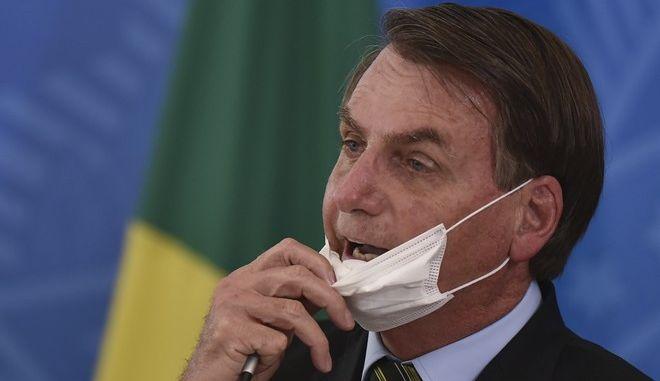 Ο πρόεδρος της Βραζιλίας Jair Bolsonaro