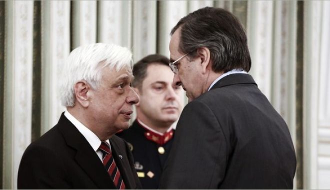 Representatives of political, military, religious and cultural institutions and authorities payed their respects to the newly elected President of the Hellenic Democracy Prokopis Pavlopoulos, at the Presidential Palace, in Athens, on Mar. 14, 2015 /        ,      , ,      . , 14 , 2015