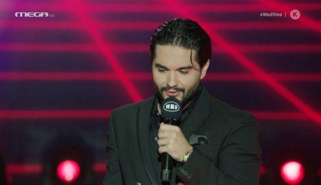 """MAD VMA 2020: Η συγκινητική αφιέρωση του Χρήστου Μάστορα κατά τη βράβευσή του- """"Τα όνειρα δεν έχουν ταβάνι"""""""