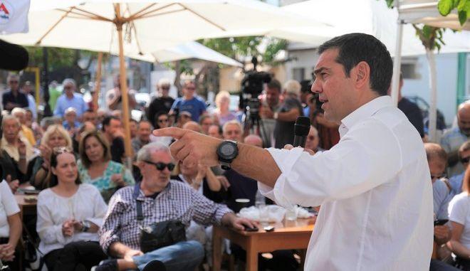Από την περιοδεία του προέδρου του ΣΥΡΙΖΑ, Αλέξη Τσίπρα, στα Χανιά