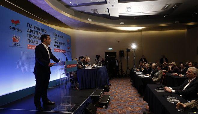Ο Αλέξης Τσίπρας στο Ευρωπαϊκό Συνέδριο του ΣΥΡΙΖΑ