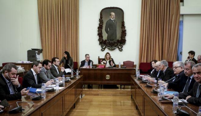 Ακρόαση από τα μέλη της Επιτροπής Θεσμών και Διαφάνειας της Βουλής, του προτεινομένου, από τον Υπουργό Ψηφιακής Πολιτικής, Τηλεπικοινωνιών και Ενημέρωσης, Κωνσταντίνου Μασσέλου, για διορισμό στη θέση του Προέδρου της Εθνικής Επιτροπής Τηλεπικοινωνιών και Ταχυδρομείων (Ε.Ε.Τ.Τ.) την Τρίτη 30 Ιανουαρίου 2018.  (EUROKINISSI/ΓΙΑΝΝΗΣ ΠΑΝΑΓΟΠΟΥΛΟΣ)
