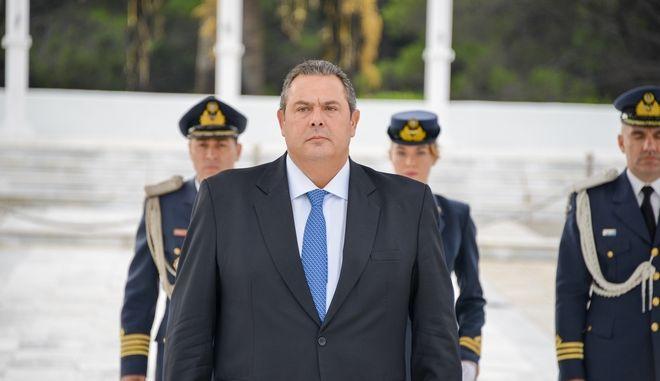 Ο Υπουργός Εθνικής Άμυνας Πάνος Καμμένος, ο Αρχηγός ΓΕΝ Αντιναύαρχος Νικόλαος Τσούνης ΠΝ, ο Αρχηγός ΓΕΑ Αντιπτέραρχος (Ι) Χρήστος Χριστοδούλου και η Ειδική Γραμματέας του Υπουργείου Εθνικής Άμυνας Καλλιόπη Παπαλεωνίδα παρέστησαν στον επίσημο εορτασμό του Προστάτη της Πολεμικής Αεροπορίας Αρχαγγέλου Μιχαήλ που πραγματοποιήθηκε στη Σχολή Ικάρων στην Αεροπορική Βάση Δεκέλειας, στο Τατόι.Τετάρτη 8 Νοέμβρη 2017.(EUROKINISSI / γρ. τυπου υπ. εθνικής άμυνας)