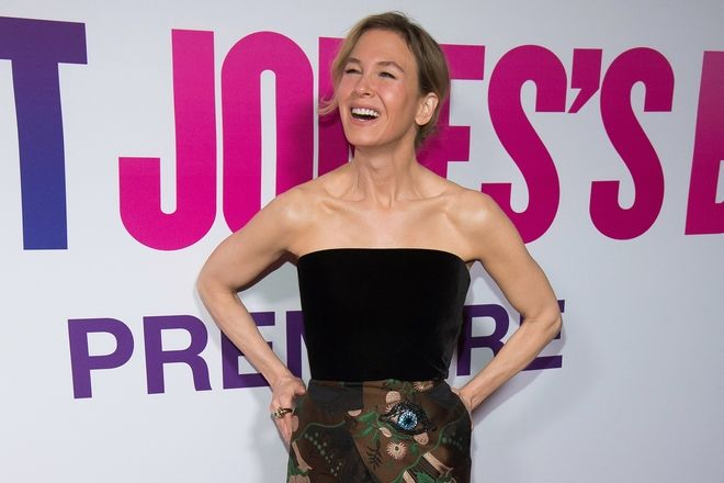 """Renee Zellweger attends the premiere of """"Bridget Jones's Baby"""" at The Paris Theatre on Monday, Sept. 12, 2016, in New York. (Photo by Charles Sykes/Invision/AP)"""