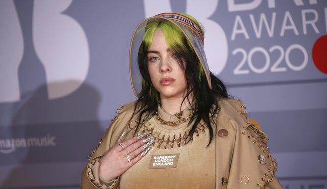 Η Μπίλι Άιλις στα Brit Awards 2020 στο Λονδίνο