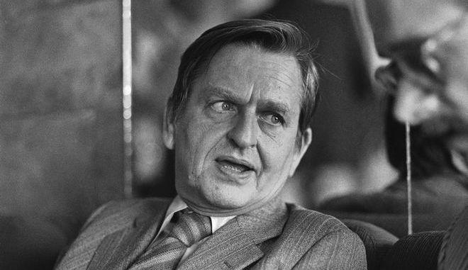 Ο Ούλοφ Πάλμε σε συνέντευξη Τύπου στη Μόσχα τον Ιούνιο του 1981