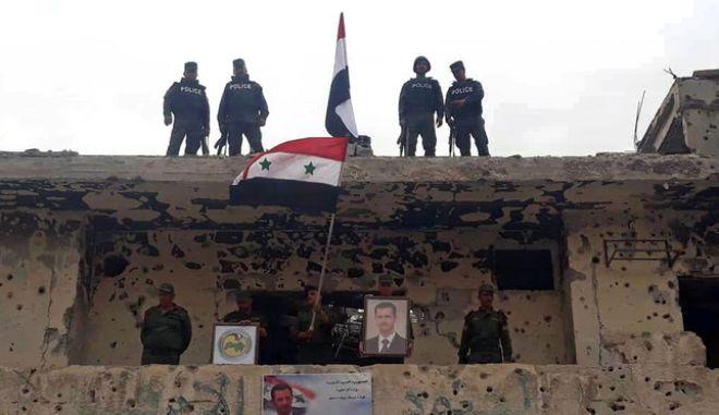 Σύροι στρατιώτες στη Δαμασκό