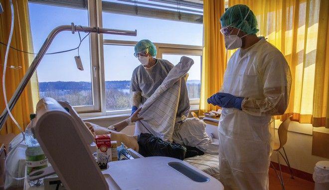 Νοσοκομείο στο Σβέριν της Γερμανίας εν μέσω πανδημίας κορονοϊού