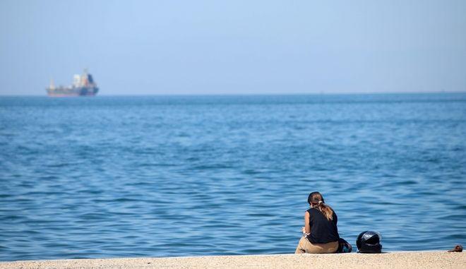 Εικόνα από την παραλία της Θεσσαλονίκης