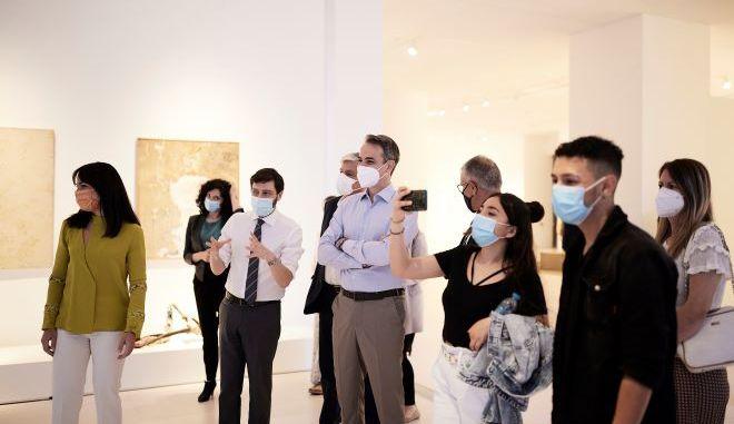 Επίσκεψη του Κυριάκου Μητσοτάκη στο Εθνικό Μουσείο Σύγχρονης Τέχνης