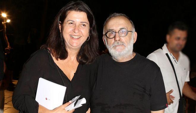 Θάνος Μικρούτσικος και Μαρία Παπαγιάννη